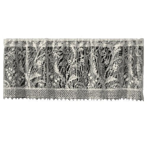 Heritage Lace Coventry 45-Inch Wide by 18-Inch Drop Valance with Trim, Ivory