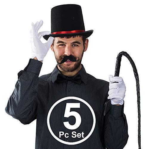 Tigerdoe Ringmaster Costume Accessories - Ringmaster Hat - 5 Accessories - Circus Party Supplies -