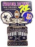 Super Bowl XII Oversized Commemorative Pin