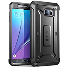 Samsung Galaxy Note 5 Case, SUPCASE [Heavy Duty] Belt Clip Holster Case for Galaxy Note 5 [Unicorn Beetle PRO Series] Full-body Rugged Cover with Built-in Screen Protector / Bumpers (Black/Black)