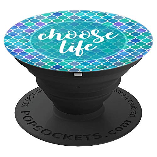 Choose Life Blue Mermaid Pro Life Anti Abortion Conservative - PopSockets Grip and Stand for Phones and Tablets