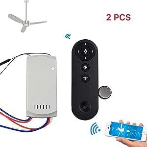 LayOPO Sonoff IFan02 - Ventilador de Techo WiFi con Mando a ...