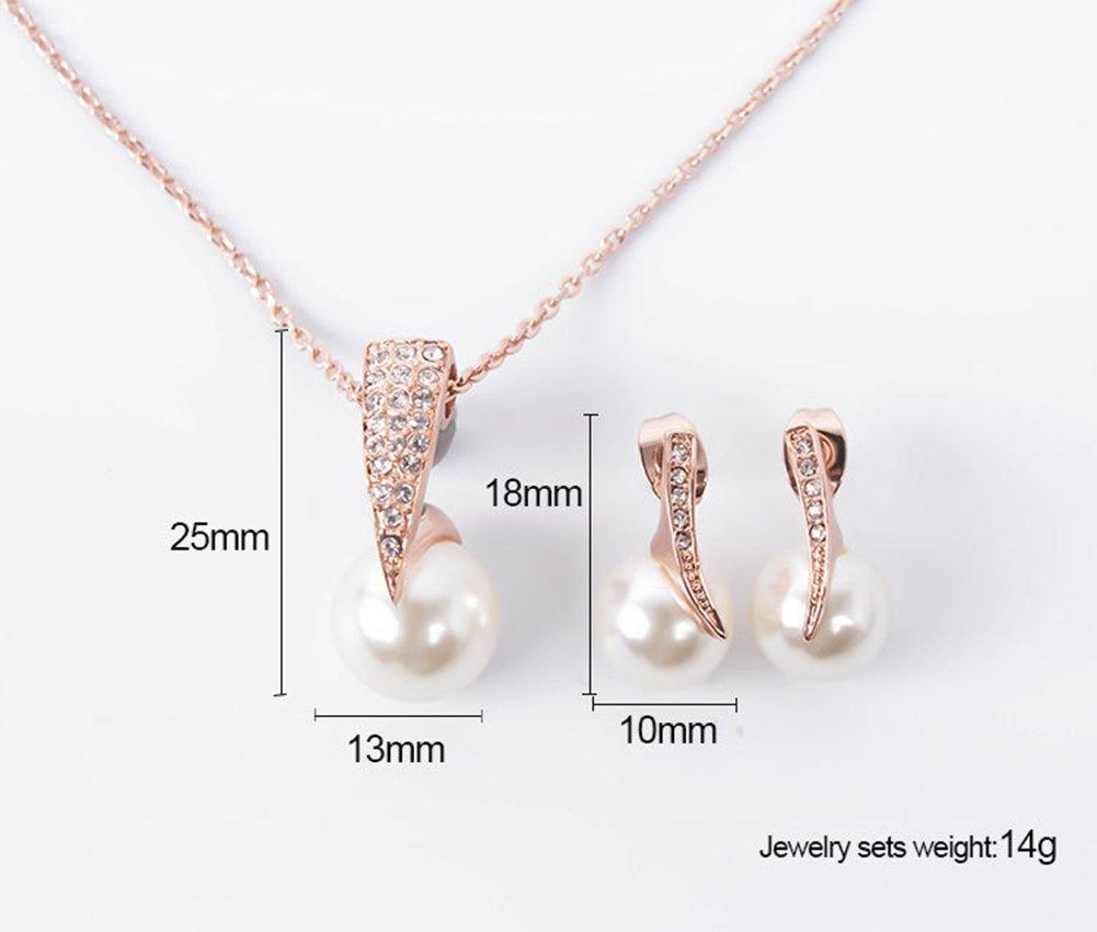 Gespout Collier Style Perle Bijoux Avec des Boucles doreilles Multicolore Facultatif Alliage Cadeau Convient pour les Femmes