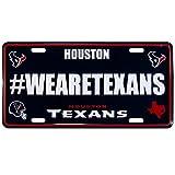 Siskiyou NFL Houston Texans Hashtag License Plate, 12″, Blue