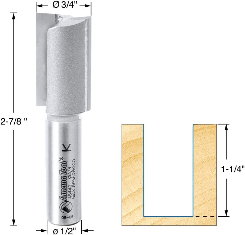 """Solid Plunge Cutting Straight Router Bit Cutter 1//2/""""D x 1//2/"""" Shank MDF Plywood"""