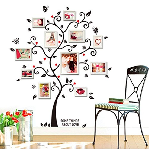 FiveRen Photo Tree Sticker  Removable Wall Decals Peel amp Stick Vinyl Sheet Wall Stickers Mural Art Home Décor 40x48in