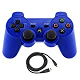Bowink Wireless Bluetooth Controller For PS3 Double Shock (Blue)