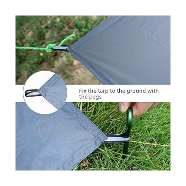 51pZ%2BAZhYVL GEERTOP Schutzplane Zeltplanen Zeltunterlage 1-4 Personen 20D leichte wasserdicht für Zelt Wanderungen Camping Picknick