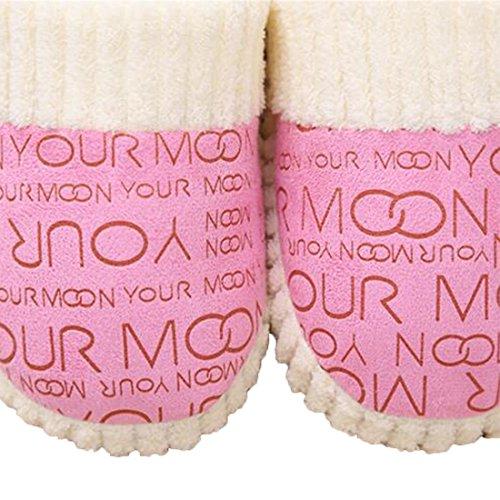 Shoes House Terry Pink Women Letters Men on Indoor Slipper for Slippers Non Slip slip UwWtndqv