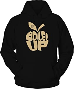 FanPrint Purdue Boilermakers Hoodie - Teacher - Slogan Inside Apple