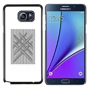 TECHCASE---Cubierta de la caja de protección para la piel dura ** Samsung Galaxy Note 5 ** --Computer Art acolchado Vikingo Blanca