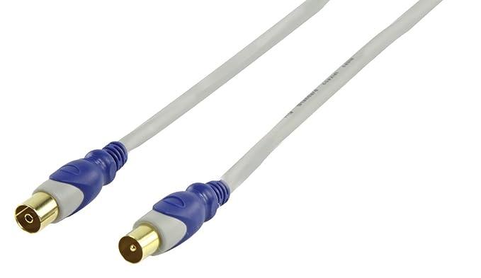 HQ SAE-500-1.5 - Cable coaxial (1.5m, Gris, Macho/hembra, Coaxial, Coaxial, Oro)