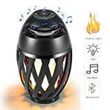 Led flame speaker Bluetooth Speaker,Dancing Flames Outdoor Indoor Portable Bluetooth Speaker &Torch Atmosphere Light USB
