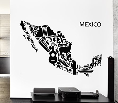 Vinyl Decal Wall Sticker Mexico Mexican Latin American Cool Decor (z1597) L 28.5 in X 44.5 in