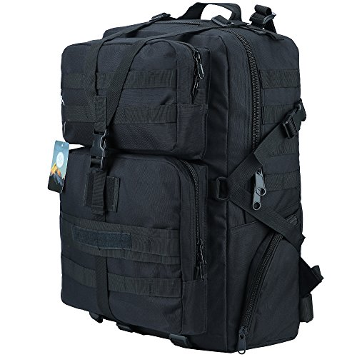 HUKOER 35L/45L Military Tactical Backpack -Tactical Assault Molle Rucksacks Waterproof Expandable Hunting...