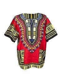 Lofbaz Traditional African Unisex Dashiki Shirt color Tribal Festival Hippie