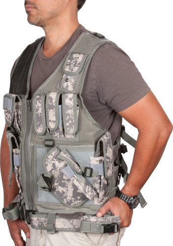 Modern Warrior Digital Camo Adjustable Tactical Military and Hunting Vest (Digital Tactical Camo)
