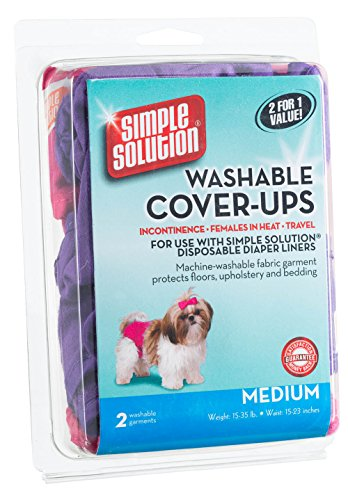 Simple Solution Washable Diaper Cover Ups, Medium, Pink/Purple - 2 Pack