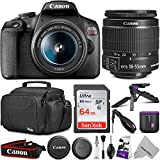 Canon EOS Rebel T7 DSLR Camera with Canon EF-S 18-55mm is II Lens + 64GB SanDisk Memory Card and Altura Photo Camera Bag and Accessory Bundle