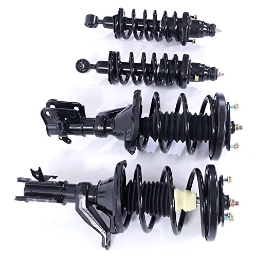 Honda Accord Engine Swap - Front & Near Driver & Passenger Side Complete Strut Shock Coil Spring Assembly for 2003 2004 2005 2006 2007 Honda Accord 2.4L L4 & 3.0L V6