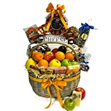 Gourmet Cheese, Fruit, and Chocolate Extravaganza Kosher Gift Basket