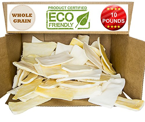 Premium Thick Cut Chips, Wholegrain Rawhide (Last much longer than traditional chips). 100% Natural. The best behavioral Dog Chewing Treat Solution. No preservatives. (10 POUNDS) by Brazilian Pet
