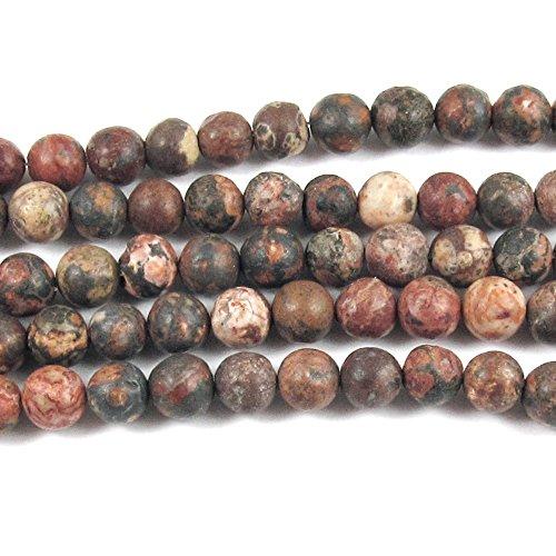 Round Gemstone Beads-Leopard Skin Jasper 15