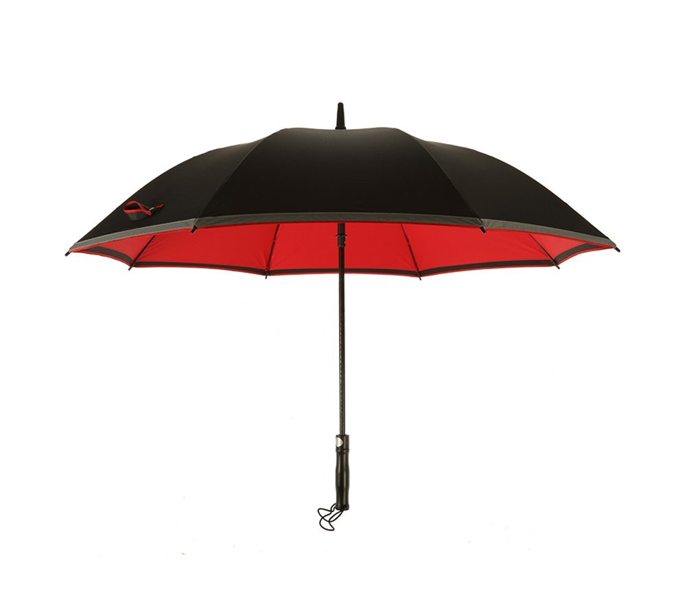 JCRNJSB® 大きな傘、ロングハンドル自動メンズ商業ルミナス風防ラージダブル3人 持ち運びに便利な折りたたみ式 防風防水 傘 (色 : 赤) B07CTB2NVX赤