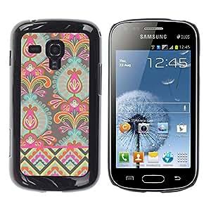 Be Good Phone Accessory // Dura Cáscara cubierta Protectora Caso Carcasa Funda de Protección para Samsung Galaxy S Duos S7562 // Wallpaper Flowers Art Bright Colors