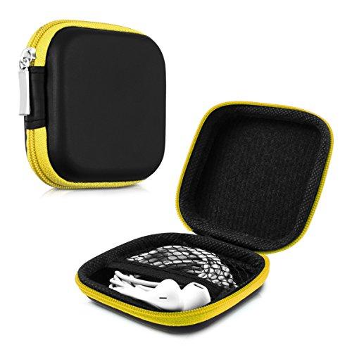 kwmobile Robuste Tasche Case für Kopfhörer in Gelb - Hochwertige Schutzhülle für Ihre Kopfhörer