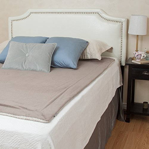 Great Deal Furniture 238878 Forde Queen to Full Sized Bed Headboard, Ivory
