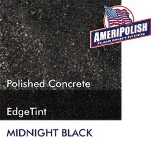 Ameripolish Dye Classic Solvent Based Concrete Dyes (1 Gallon, Midnight (Black Concrete Stain)