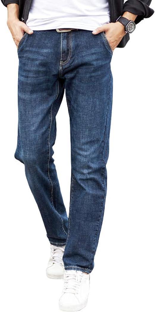 [Wansi] ワンース デニムパンツ メンズ ストレート ロングパンツ 春夏 薄手 ズボン カジュアル 大きいサイズ ゆったり