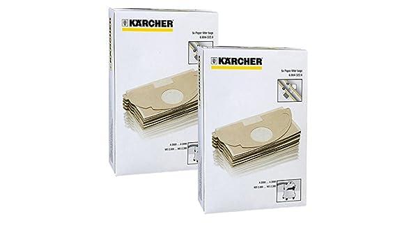 Karcher MV2 WD2 aspiradora fuerte doble capa bolsas de polvo (Pack de 10): Amazon.es: Hogar
