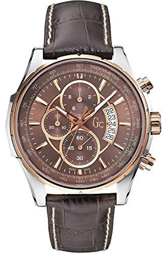 Guess Mens Chronograph Quartz Watch with Leather Strap X81002G4S