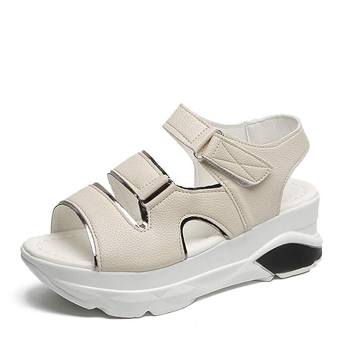 Mealeaf - Zapatos Informales de Mujer con Plataforma de Verano y ...