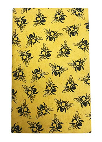 - Bumble Bee Print Eco Friendly Sketch Journal Notebook 8