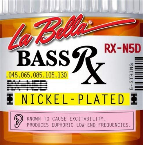 LaBella RX-N5D 5-String Bass Rx Nickel-Plated Strings, - 5 Custom Bass