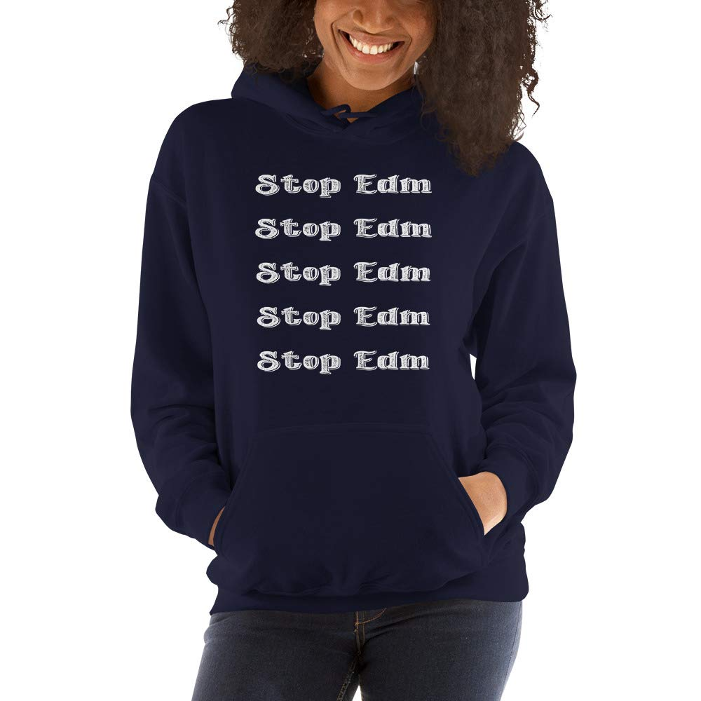 Cloth1978 Funny Stop EDM Hooded Sweatshirt