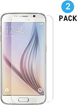 WEOFUN 2 Unidades Samsung Galaxy S6 Protector de Pantalla, Cristal ...