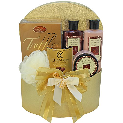 Chocolate Truffle Spa Bath and Body Gift Basket