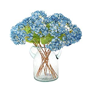 FatColo(R) Lovely Mini Hydrangea Artificial Fake Plastic Silk Flower for Bouquet, Home Decorative, Weddings, Wreaths, DIY Crafts - Set of 12 2