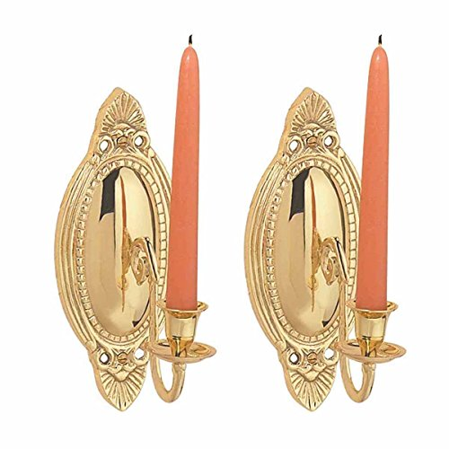 Renovator's Supply Brass Wall Sconce Candle Holder Vintage Victorian Set Of 2 ()