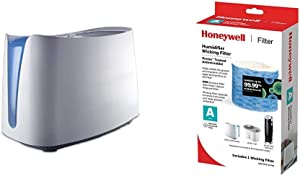 Honeywell HCM350W Germ Free Cool Mist Humidifier White & Replacement Wicking Filter A, 1 pack, White