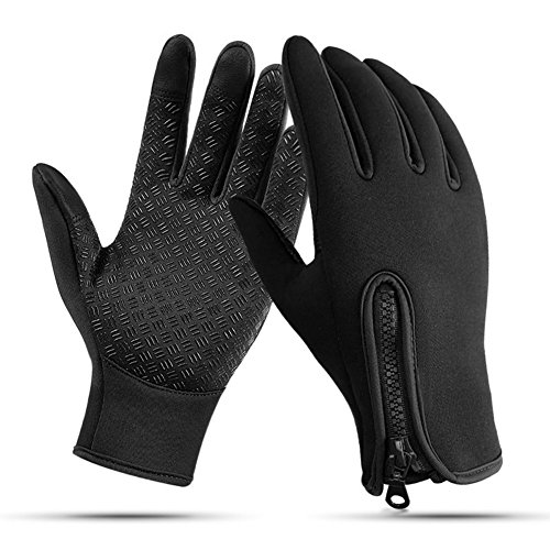 Nurbijar Winter Gloves Touch Screen Adjustable Thermal Warm Outdoor Cycling Gloves for Man and Woman - Thermal Riding Gloves