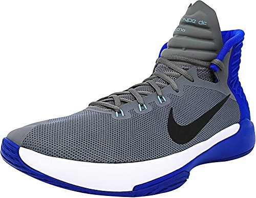 Nike Mens Prime Hype DF 2016 Basketball Shoe, Grey/Anthracite/Hyper Cobalt/White, 45.5 D(M) EU/10.5 D(M) UK