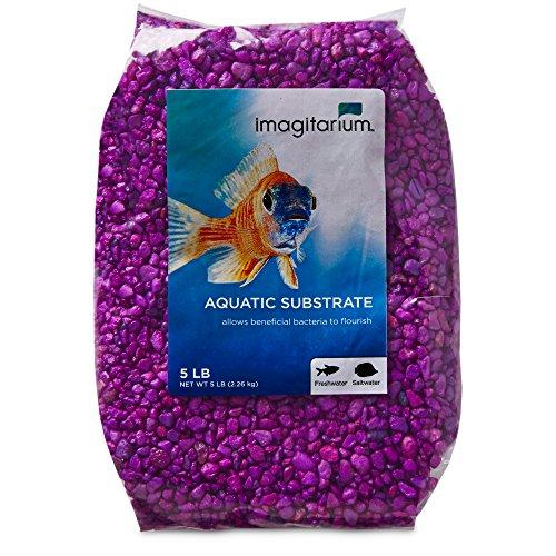 Purple Gravel - Imagitarium Neon Purple Aquarium Gravel, 5 lbs