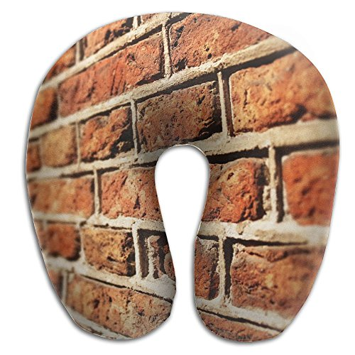 (BRECKSUCH Brick Wall Photo.jpeg Print U Shaped Pillow Memory Foam Neck Pillow For Travel And Relief Neck Pain Fashion Super Soft Cervical Pillows With Resilient Material Relex Pollow)