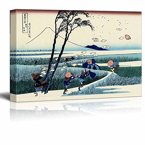 Wll Art Ejiri in Suruga Province by Japanese Artist Hokusai Thirty six Views of Mount Fuji Series and Stretched