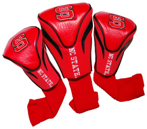 NCAA NC State Wolfpack 3 Pack Contour Head Covers (State Nc Golf)
